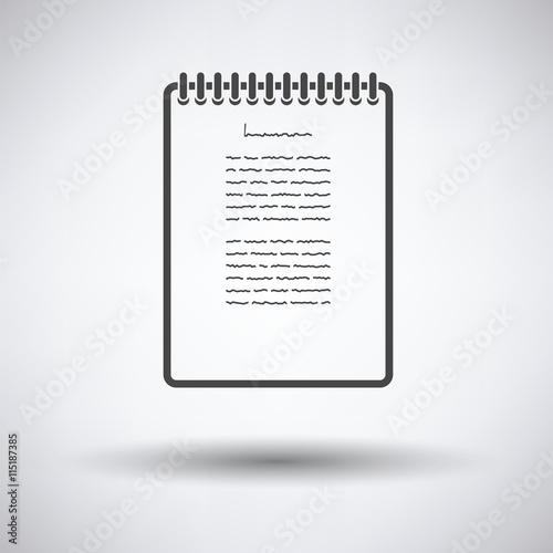 Fototapety, obrazy: Binder notebook icon