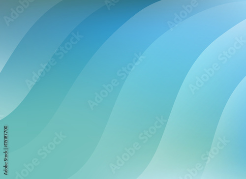 Foto op Aluminium Groene koraal Abstract Blue Background Vector Illustration