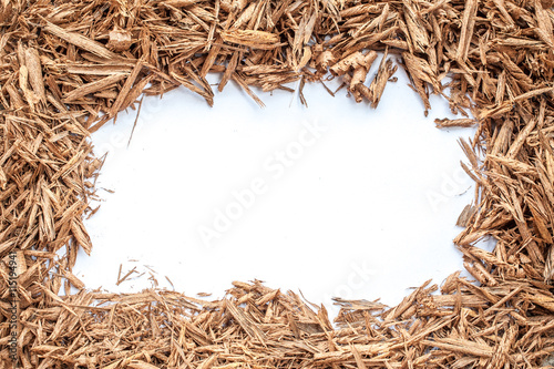 Fotografia, Obraz  Pile of wood sawdust