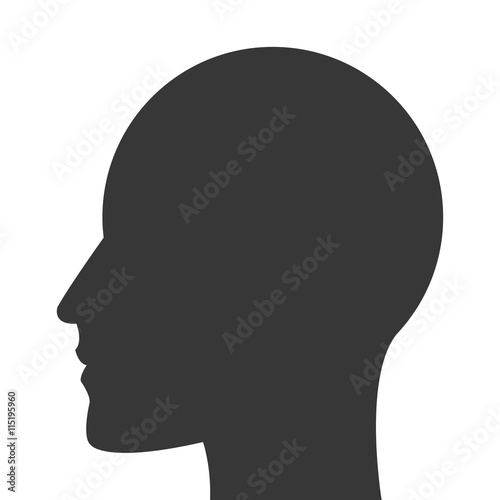 Photo  head profile icon