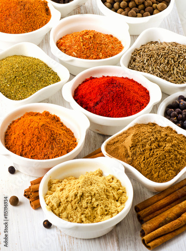 plakat Assortment of spices