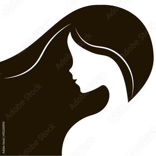 Trendy Stylish Silhouette Salon Spa Business Card