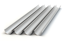 Drainage Gutters - White Background