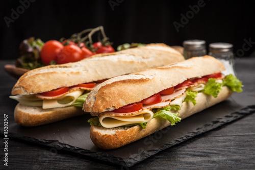 Fotografie, Obraz  Panini grilled sandwich