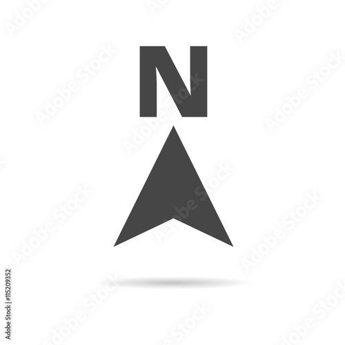North direction compass icon Fototapeta