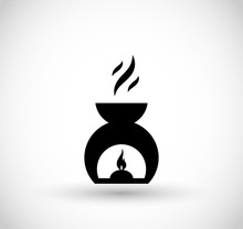 Aroma Candle Chimney Icon Vector