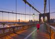 Brooklyn Bridge and Manhattan Bridge beyond, Manhattan, New York