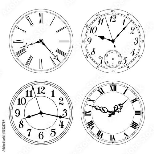 Fotografía  Editable vector clock faces