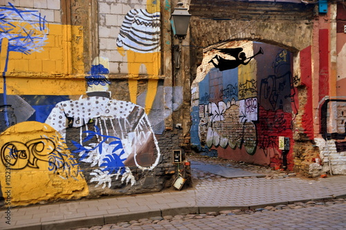 Photo sur Toile Europe de l Est In den Gassen der Freien Republik Uzupis