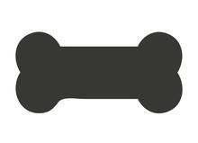 Dog Bone Isolated Icon Design