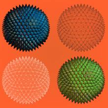 Abstract Spiky Geometric Shape...