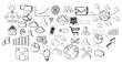 Leinwanddruck Bild - Hand drawn web icons set