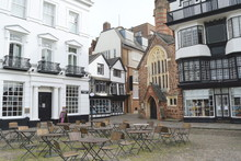 Buildings At Cathedral Close In The Centre Of Exeter, Devon