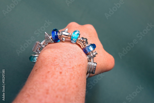 Photo  Travel Themed Charm Bracelet