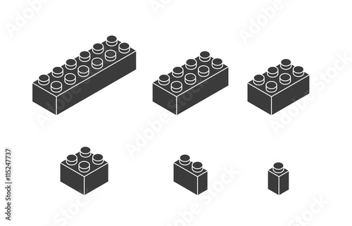 piece of lego icon game design vector graphic acheter ce vecteur libre de droit et d couvrir. Black Bedroom Furniture Sets. Home Design Ideas