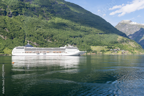 Wall Murals Northern Europe Geirangerfjord - famous natural landmark in Norway. It is UNESCO heritage site.