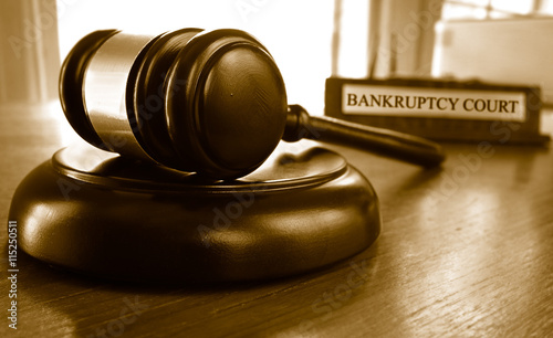Photo Bankruptcy court gavel