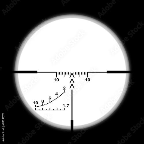 Fotografía  Sniper scope on white background.