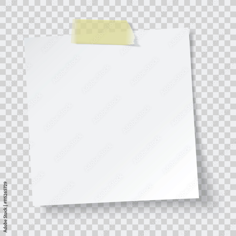 Fototapety, obrazy: white paper reminder, vector