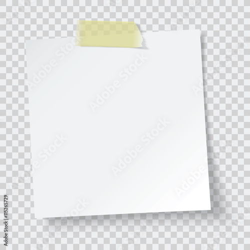 Photo white paper reminder, vector