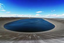 Dlouhe Strane Reservoir In Jeseniky Mountains