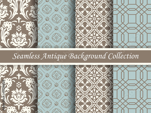 Antique seamless brown background collection_128