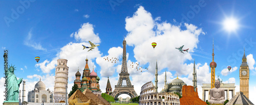 Foto  Famous landmarks of the world