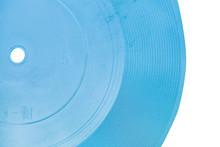 Blue Transparent Flexi Disc Close Up