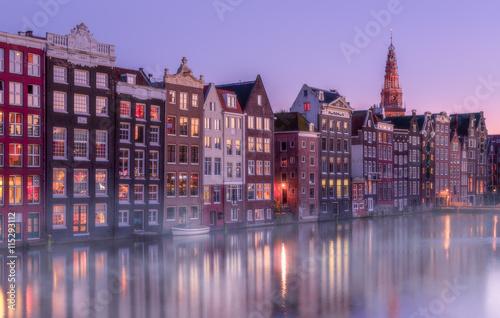Deurstickers Amsterdam Twilight in Amsterdam