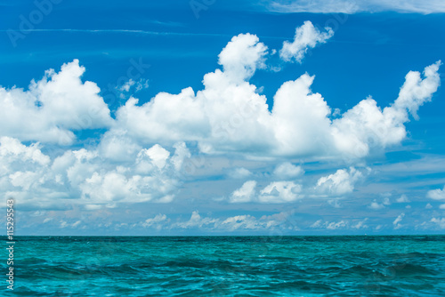 Fotografie, Obraz  Blue sky with white clouds, Indian Ocean