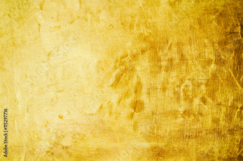 Foto op Canvas Weg in bos Gold polished metal texture