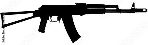 Russisches AK47 Sturmgewehr mit Pfaden Canvas Print