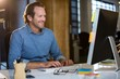 Businessman working in creative office