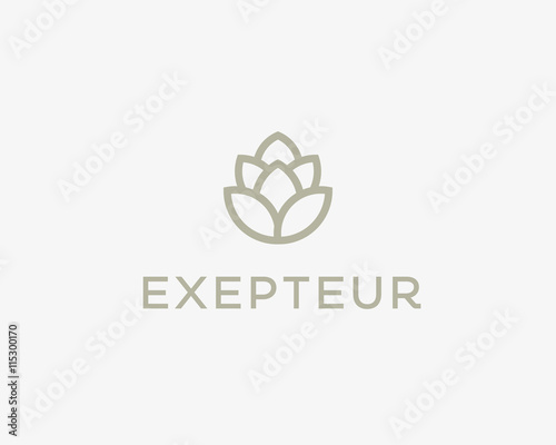 Barley Shape For Brewery Logotype Beer Vector Logo Design Template