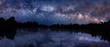 Leinwanddruck Bild - Milky Way over the lake