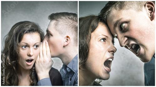 Valokuva  Junges Paar streitet sich