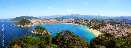 Fototapeta  La côte basque à Saint-Sébastien
