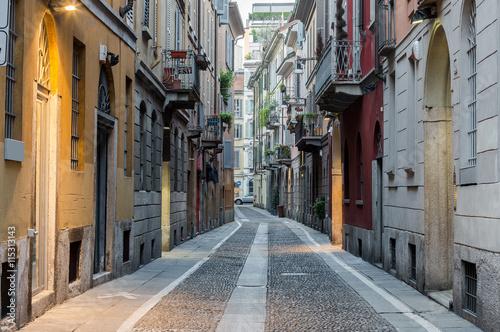 In de dag Milan Typical street in neighborhood Brera, Milan - Italy.