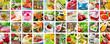 Essen und Getränke - Collage