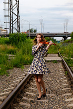 Beautiful Girl With A Violin