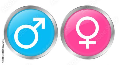 Button männlich weiblich Zeichen Geschlecht Stock
