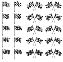 Checkered, Chequered Flags Motor Racing