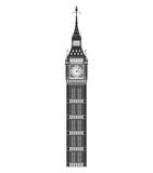 Fototapeta Big Ben - United kingdom concept represented by big ben icon. Isolated and flat illustration