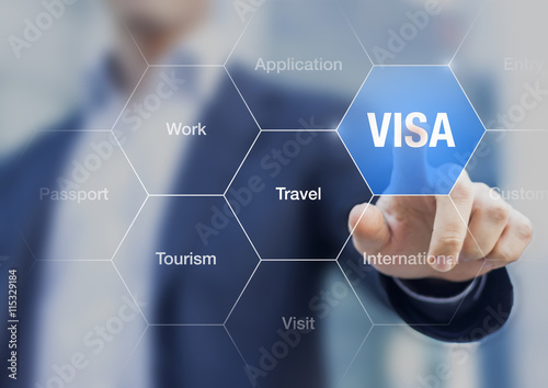 Fotografie, Obraz Concept about visa for traveling or working abroad