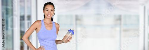 Fotografie, Obraz  Žena s obsahem bílkovin chvění