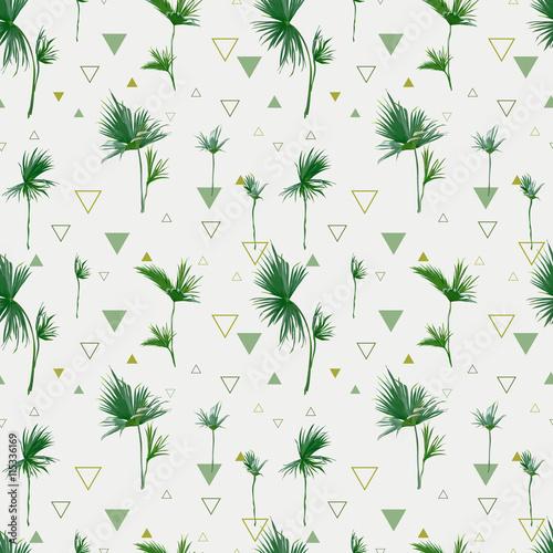 bezszwowy-wzor-tropikalna-palma-pozostawia-tlo-geometryczny-abstrakcjonistyczny-tlo