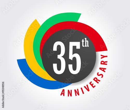 35th Anniversary Celebration Background 35 Years Anniversary Card
