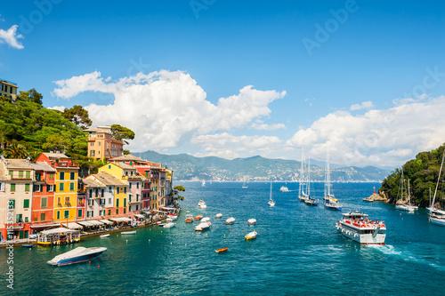 Beautiful sea coast in Portofino, Italy Wallpaper Mural