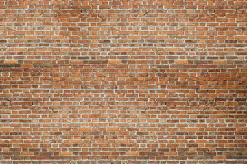 Red vintage old brick wall texture background
