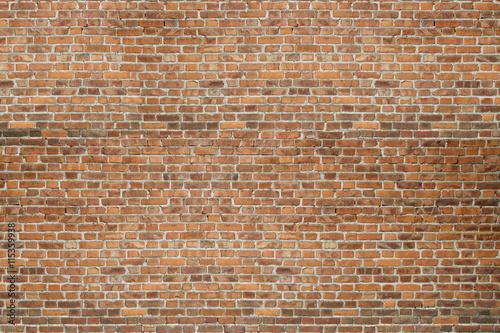 Fond de hotte en verre imprimé Brick wall Red vintage old brick wall texture background